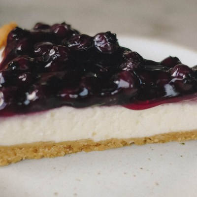 Crostata di yogurt e mirtilli
