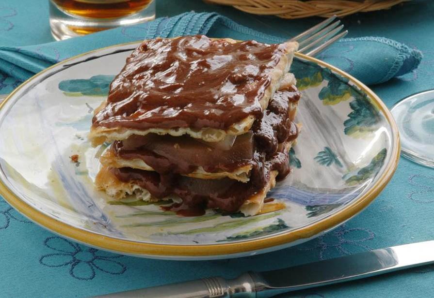 Sfoglia cioccolato e pere