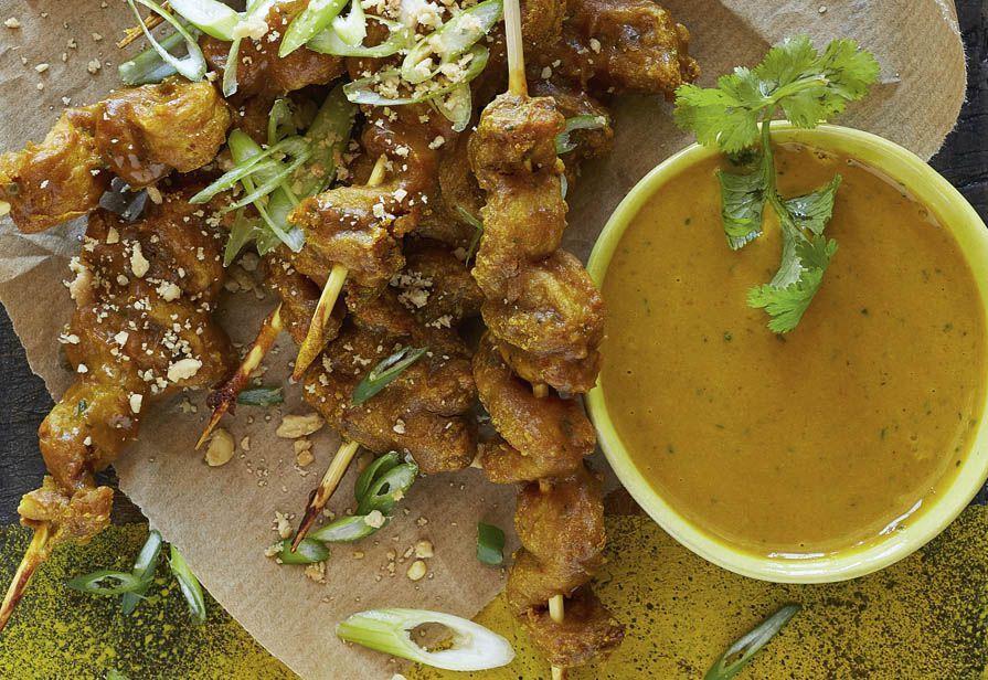 Spiedini di pollo al curry
