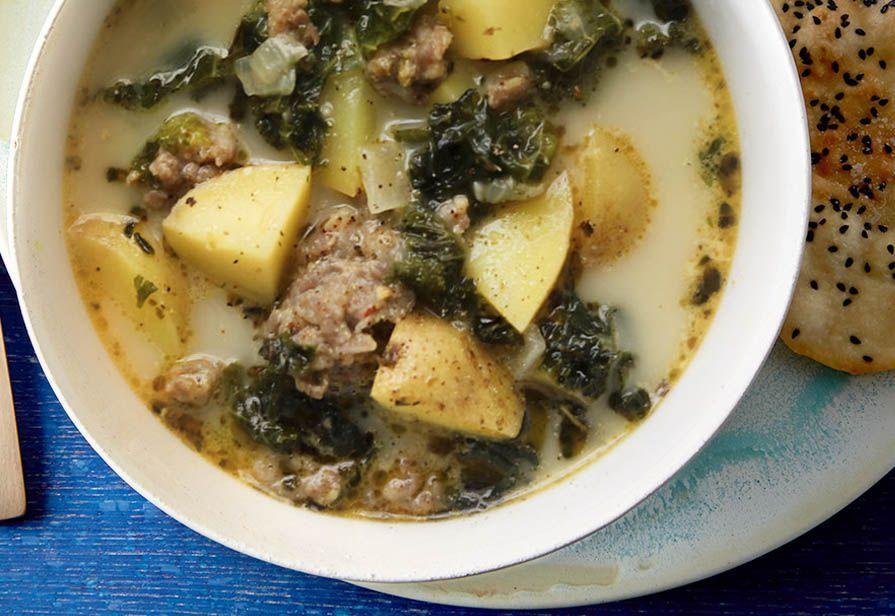 Zuppa di cime e patate