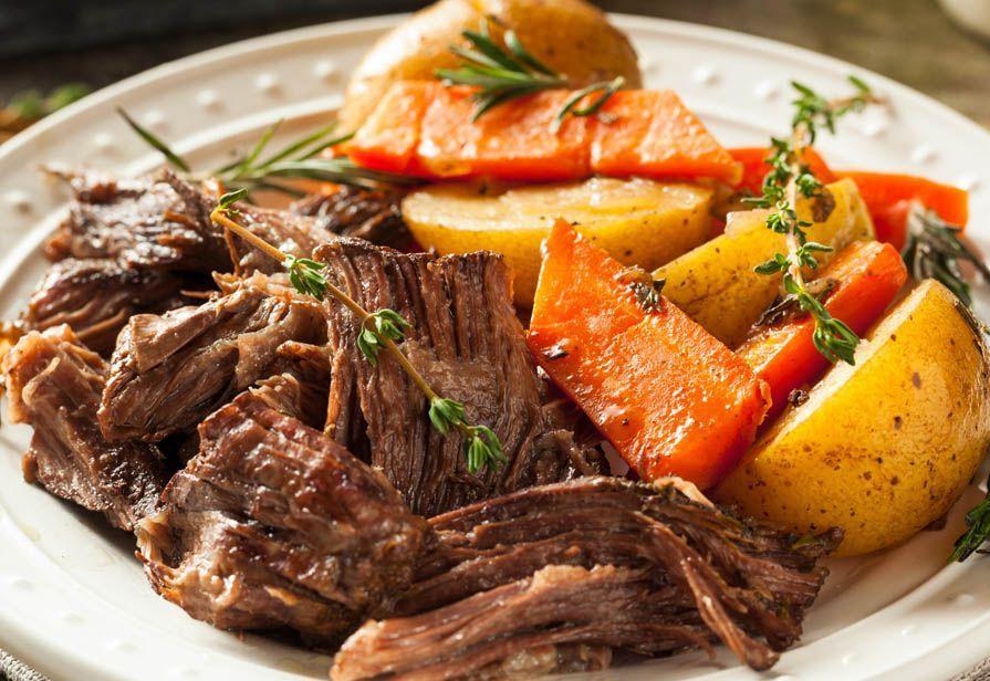 Arrosto con patate e carote