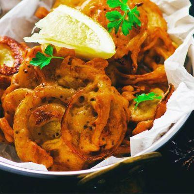 Cipolle fritte al curry