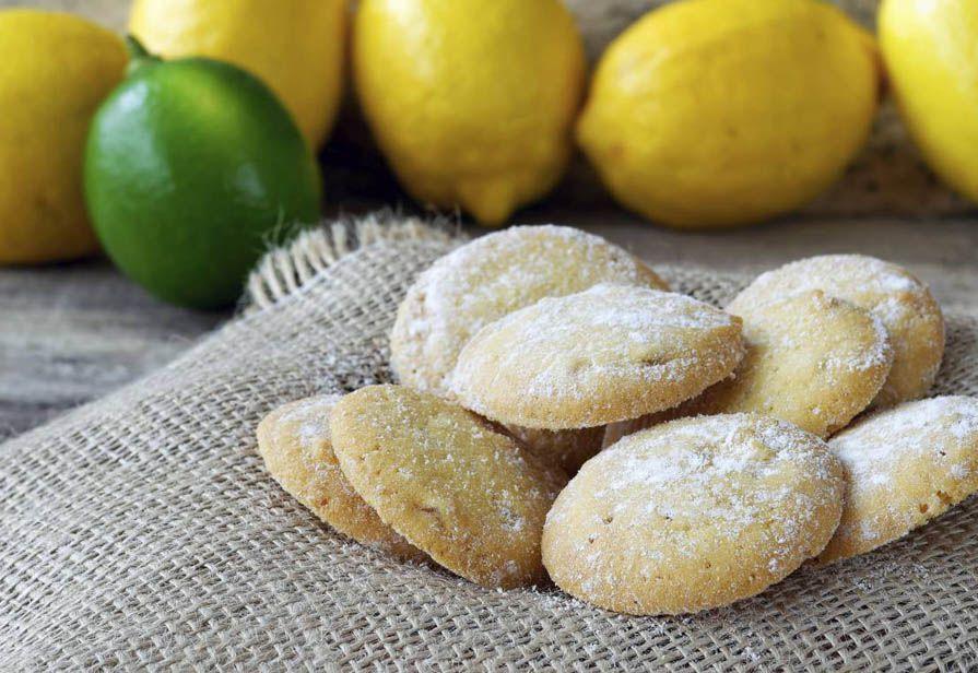 Biscottini di frolla al limone