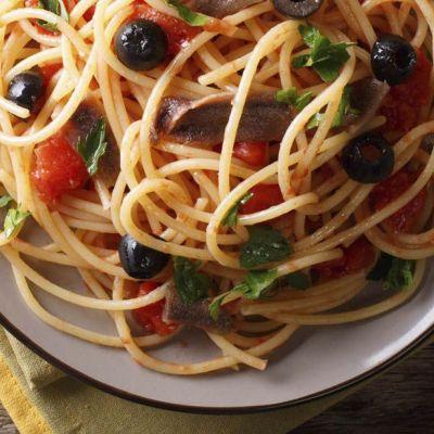 Spaghetti a crudo piccante