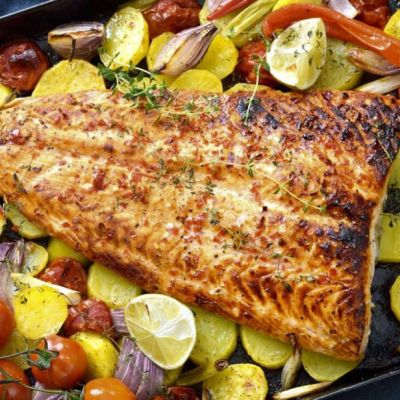 Salmone piccante al forno