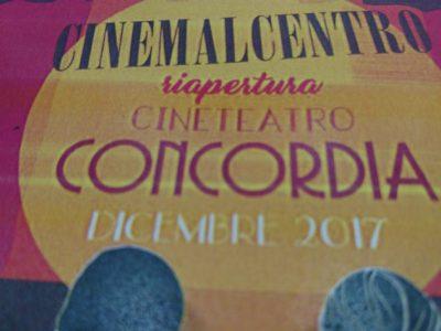 locandina del cinema al teatro concordia