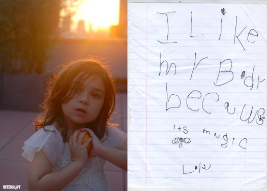"""I like my body because it's magic."" - Sofia/Lola, 5 years old"