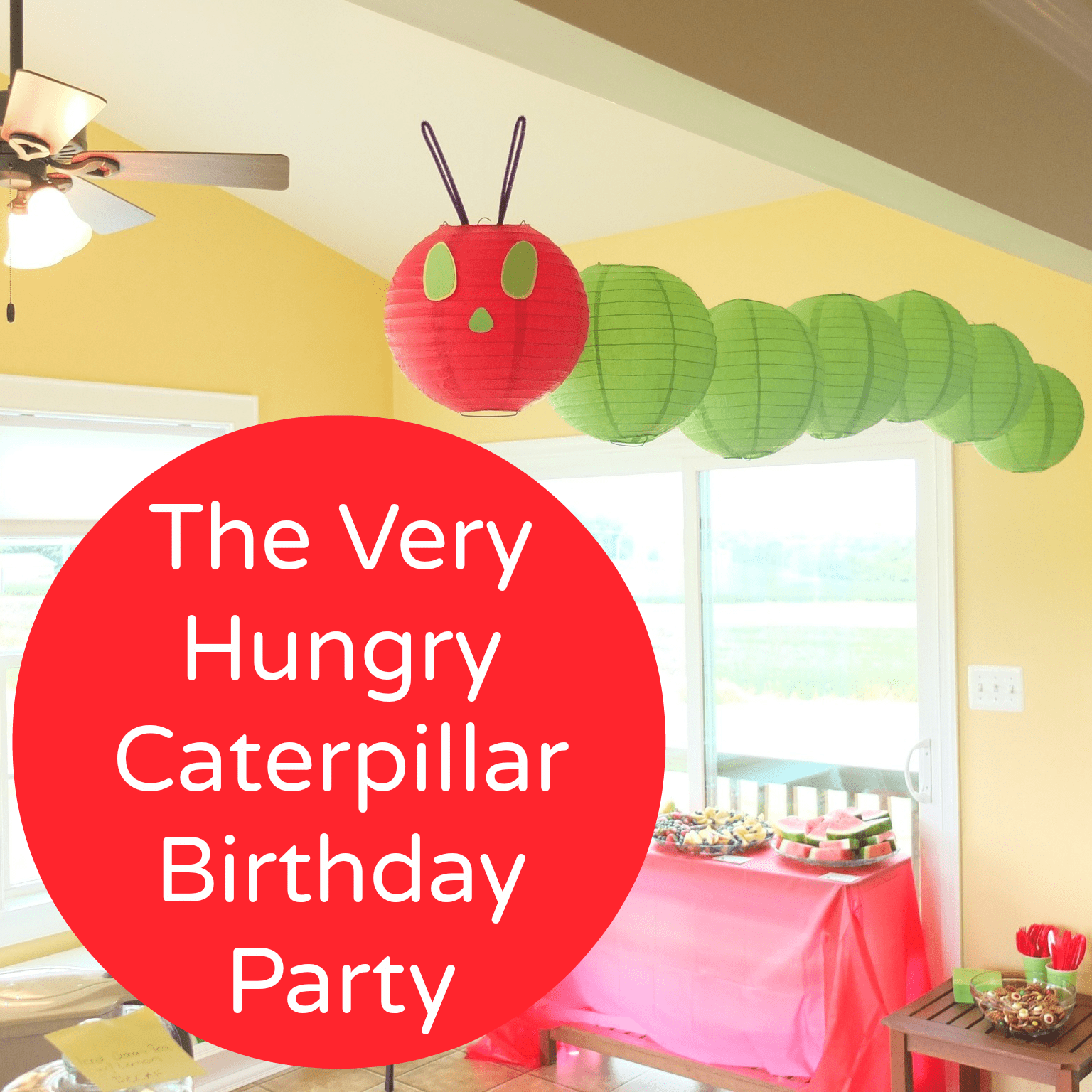 The Very Hungry Caterpillar Birthday Party - Pick Any Two