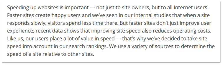 Speeding up Websites