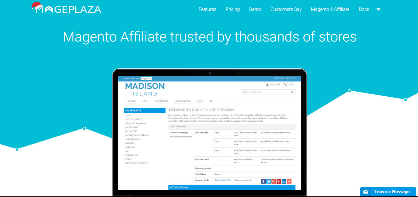 Magento Affiliate Extension
