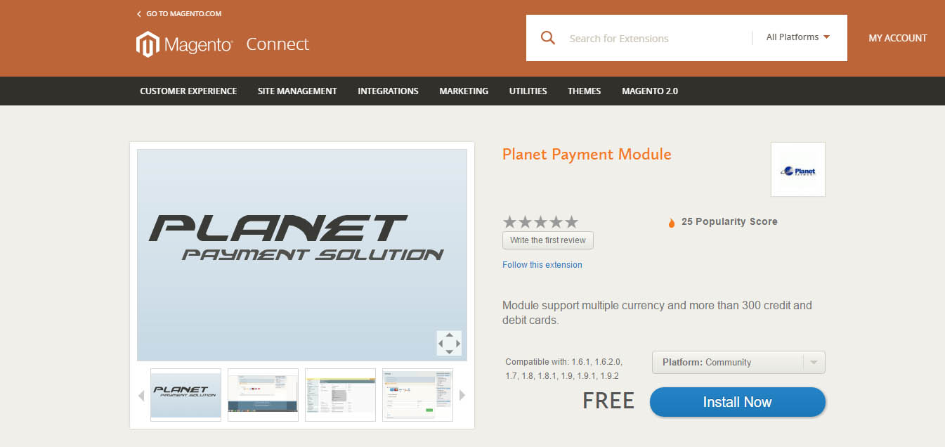 Planet Payment Module