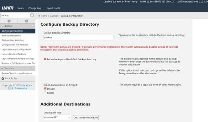 How to Configure Backup in cPanel/WHM Server