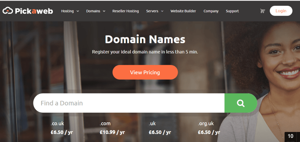 How to search for a domain name