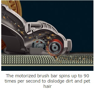 Dyson DC25 Review has motorized brush bar