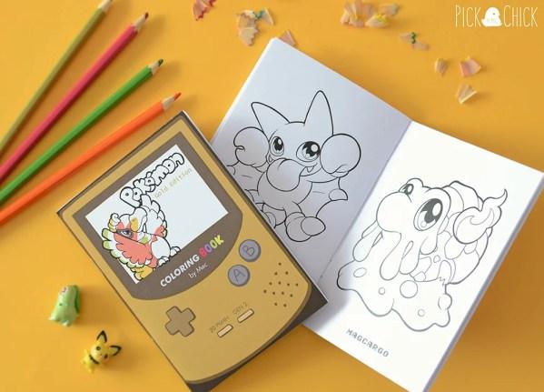 Fanzine librito para colorear de pokémon kawaii
