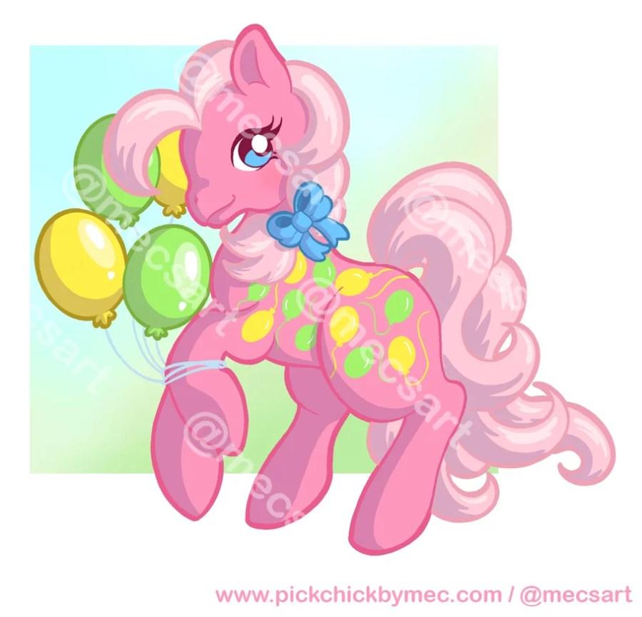 Encargo de ilustración de My little pony up, up and away