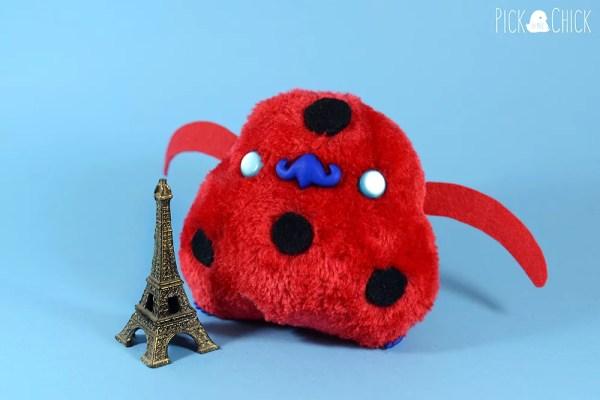 Peluche kawaii miraculous ladybug chatnoir pollito Chiripio version