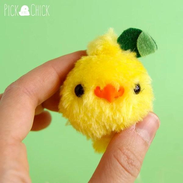 Peluche miniatura kawaii hecho a mano de Pollito Limón