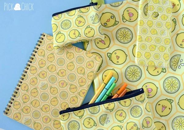 accesorios kawaii pollito limón retro
