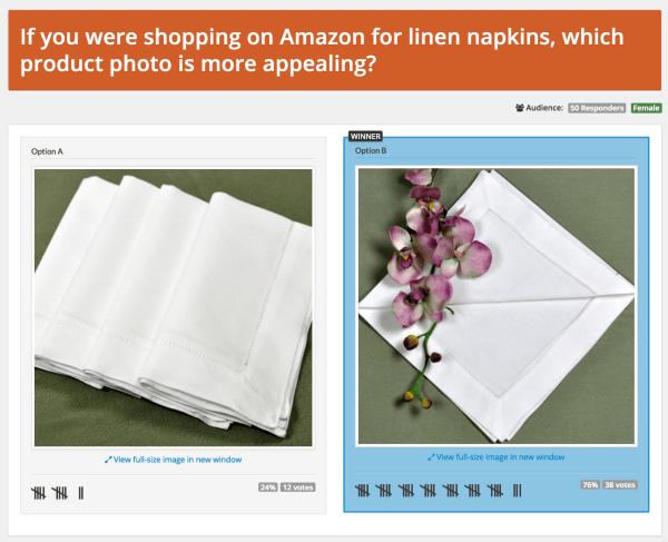 E-commerce optimization: product image test
