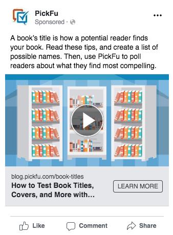 Example Facebook Ads Split Test - Ad 1