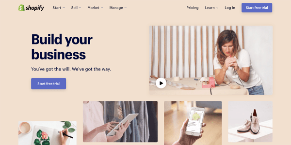 e-commerce website tool shopify