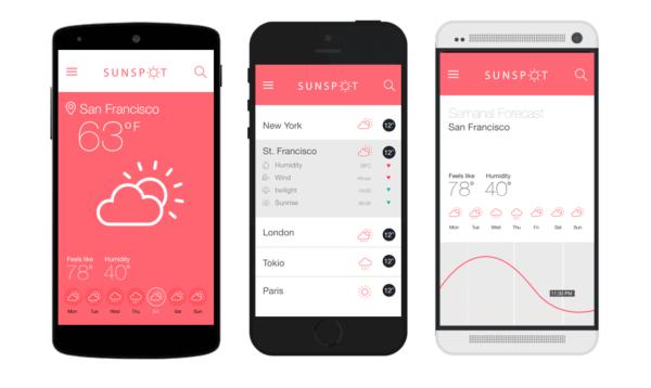 Mockup testing: Prototype of Sunspot app