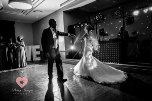 First dance at Tortworth Court in Gloucestershire. Wedding photo.