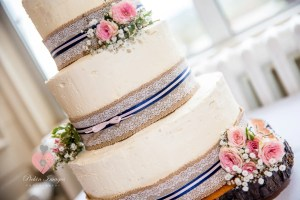 Naked wedding cake shot by Wedding photographer in Swindon, Wiltshire | Pickin Images Photography