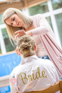 Bride prep being done at mums house
