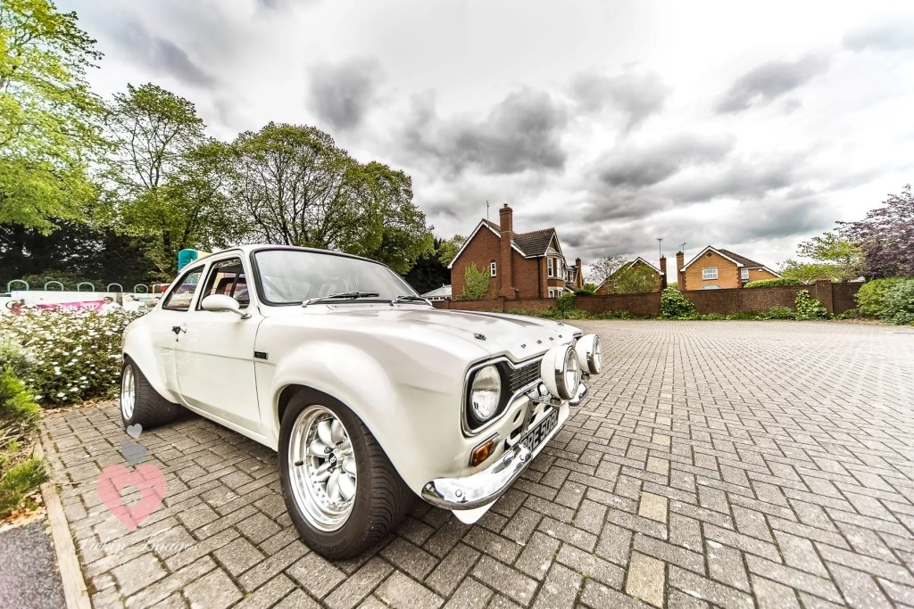 Wedding car, mark 1 ford escort Mexico in white, dads project finished in time for the daughters wedding car.