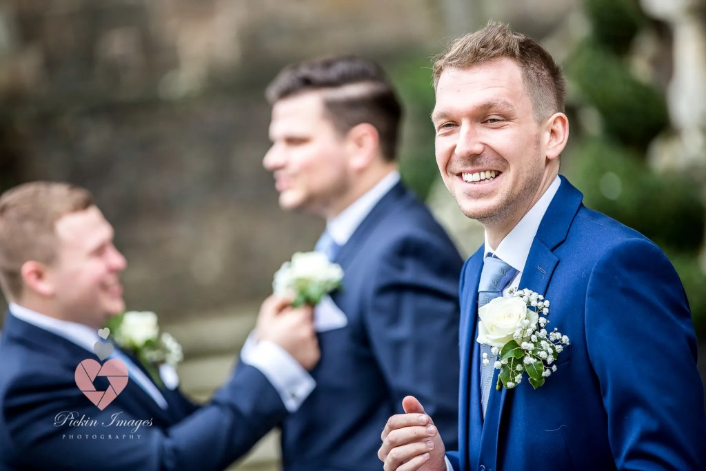 Groom and his lads getting prepped for the day.