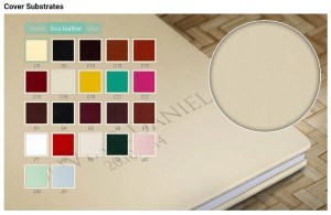Leather and fabric bound wedding albums