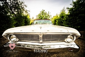 Ford Falcon wedding car in white