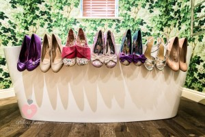 Amazing bridal party shoes. Alternative style.