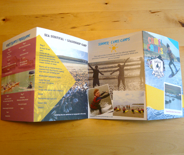 Leaflet design for Camel Camps