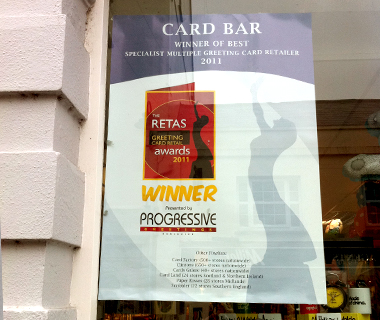 Card Bar Window Poster