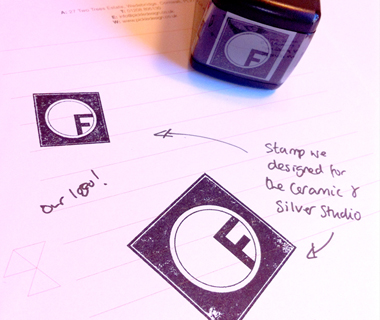 The Ceramic and Silver Studio Self-Inking Stamps