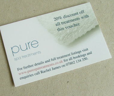 Pure Spa Treatments Business Card