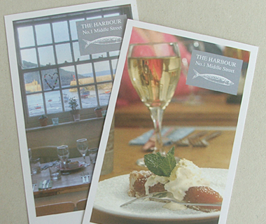 The Harbour Restaurant Leaflet