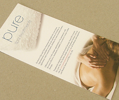 Pure Spa Treatments DL Flyer