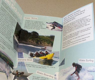 A4 leaflet design for Camel Ski School