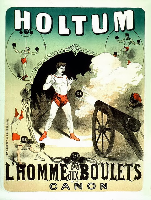 Poster design for the strongman John Holtum by Jules Chéret