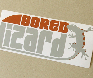 Sticker design for Bored Lizard Surf Shop