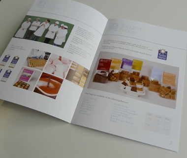 Brochure spreads for Buttermilk trade shows