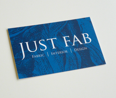 Business card design for Just Fab Design