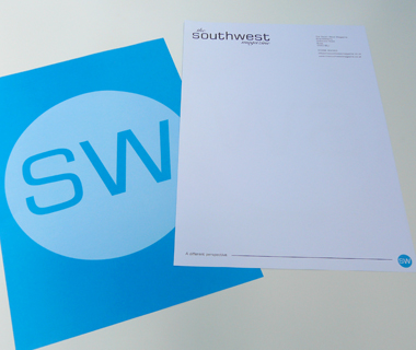 Double sided letterhead design for The South West Magazine