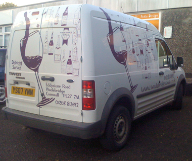 Van graphics design for Wadebridge Wines