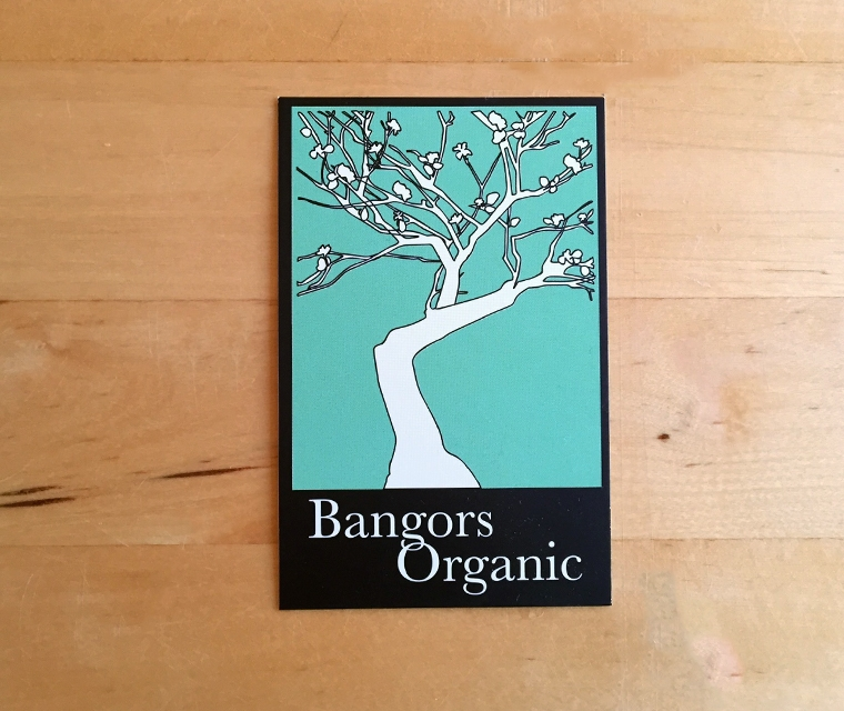 Bangors Organic Business card front