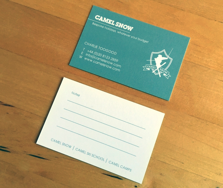 Camel Snow Business Card